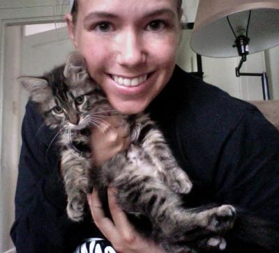Oprah and I after picking her up from the shelter
